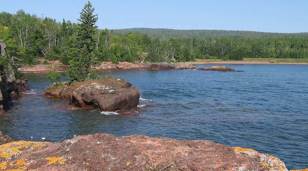 Two Fish House Beach Red Rock Point Grand Portage Minnesota