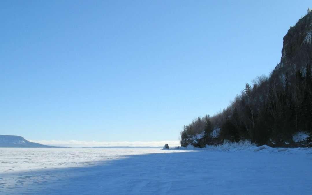 squaw bay ice hike